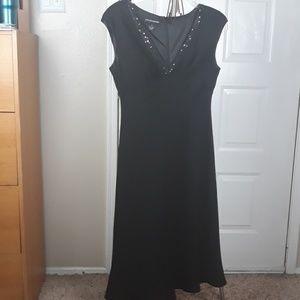 Black A-line cocktail dress